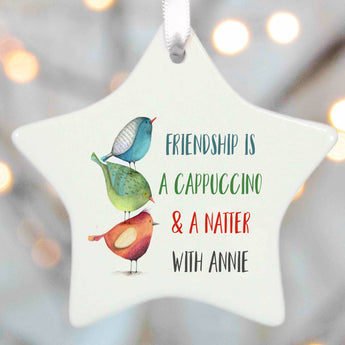 Personalised Best Friend Gift Decoration - two birds talking