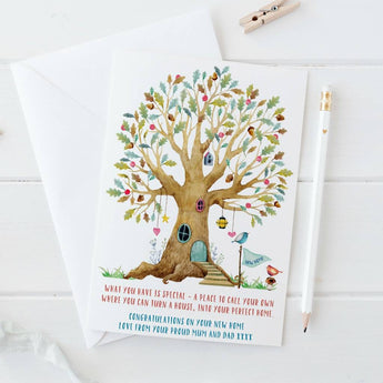 New Home Card with tree