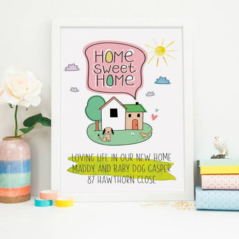 New Home Gift Print with dog