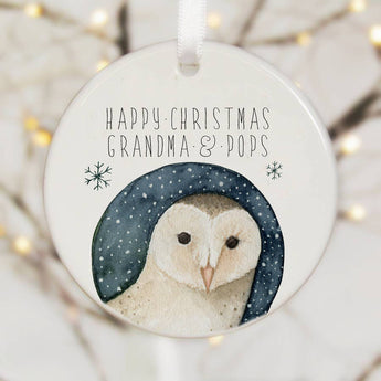 Personalised Tree Decoration With Barn Owl