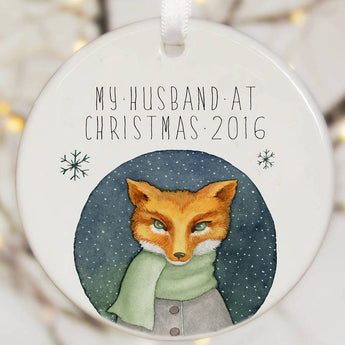 Personalised Tree Decoration With Fox Watercolour