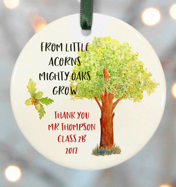 Personalised Teacher Gifts - Oak tree