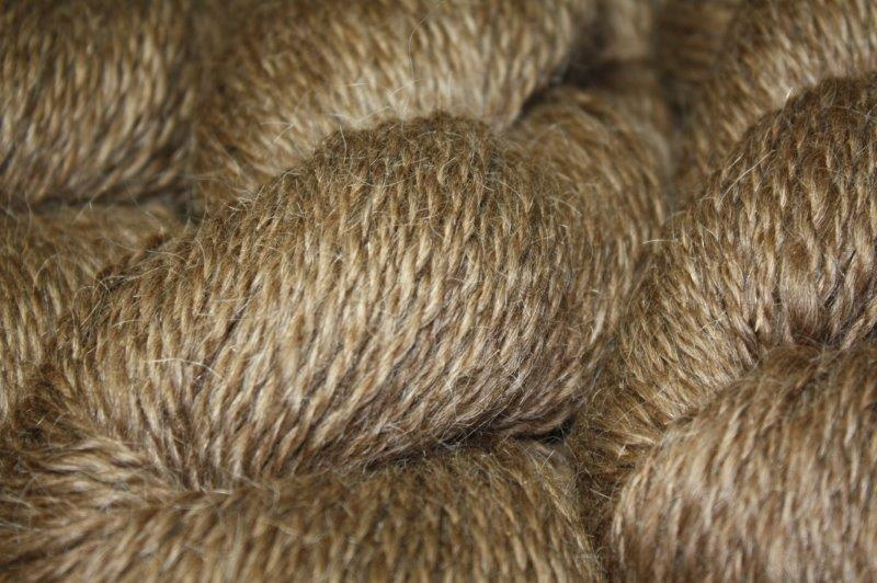 Moorit Brown Yarn with Silver Marl