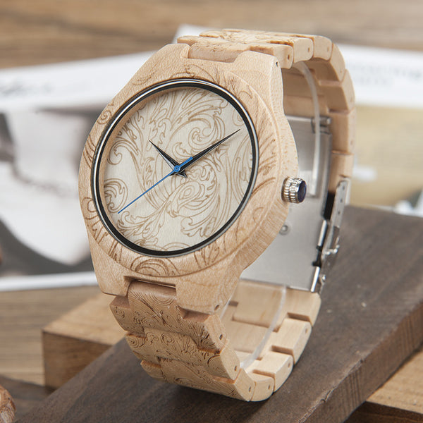 Mens Pine Wood Watch - Peekticker
