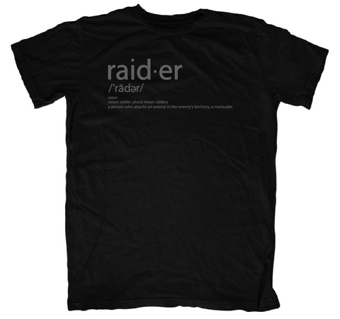 Raider Definition Tee - Black