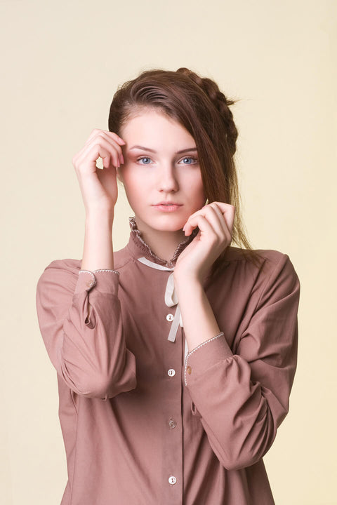 Shirt with Tied Detail