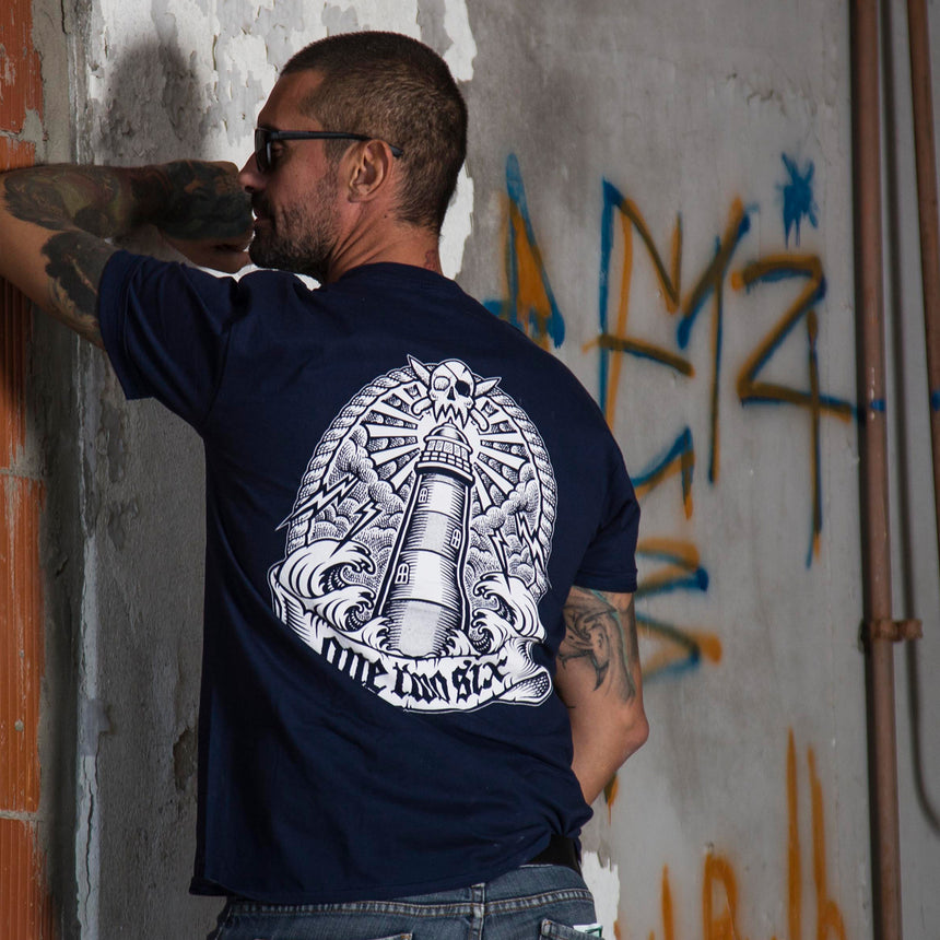 Lighthouse T-Shirt (Dark Navy / Organic Cotton)