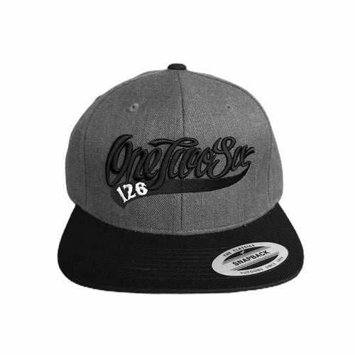Baseball Logo SnapBack  (Dark Grey/Black)