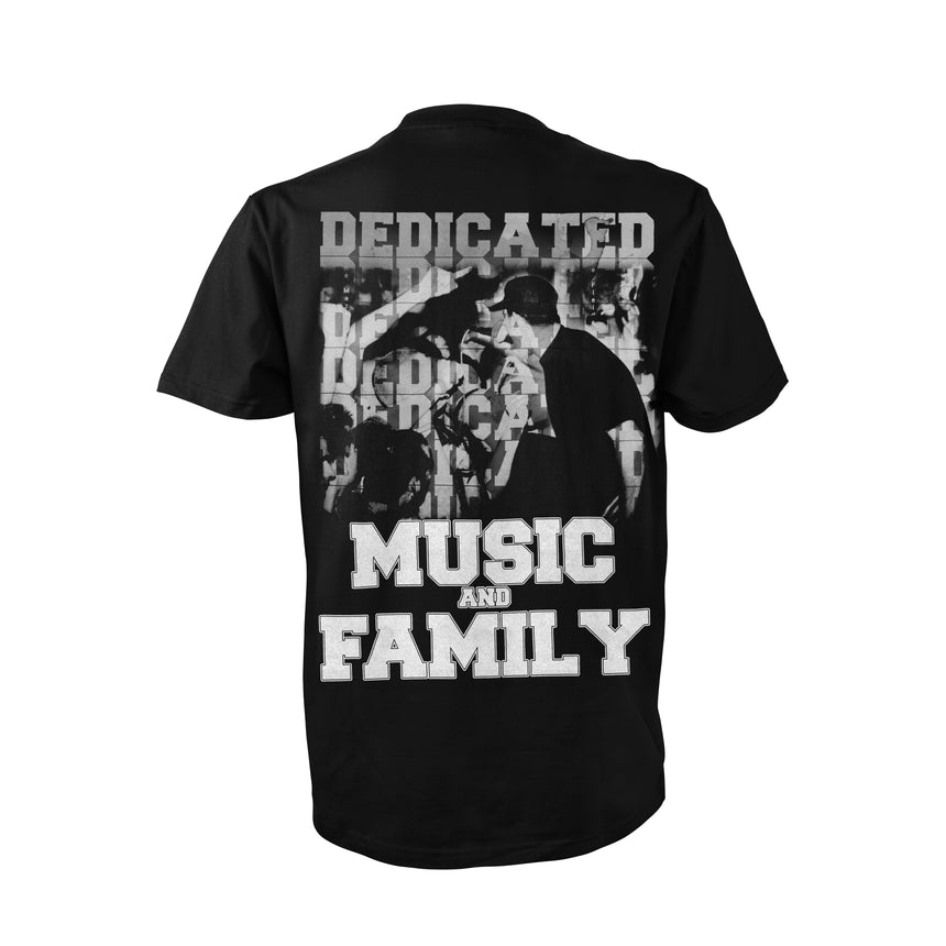 "Backfire ""Still Dedicated"" T-Shirt (Black)"