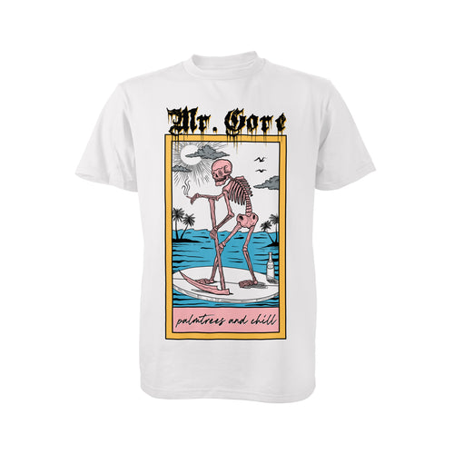Mr Gore Palmtrees and Chill T-Shirt (White)