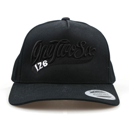 Black on Black Round Visor SnapBack
