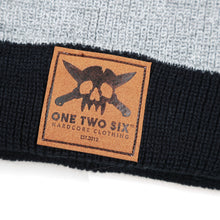Load image into Gallery viewer, One Two Six Fake Leather Patch Beanie - Winter Two Tone