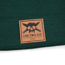 Load image into Gallery viewer, One Two Six Fake Leather Patch Beanie - Green