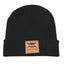 Eco Leather Patch Beanie - (Black)