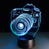 Camera 3D Optical Lamp Night Light 10 LEDs