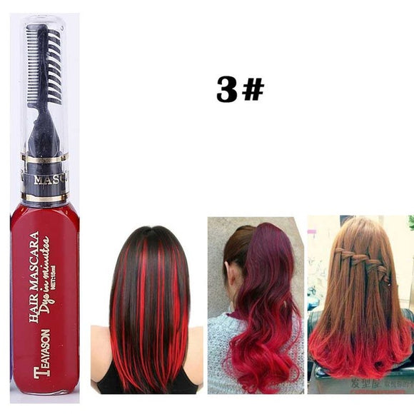 13 Colors One-time Hair Color Hair Dye Temporary Non-toxic DIY Hair Color Mascara Dye Cream Blue Grey Purple Free Shipping