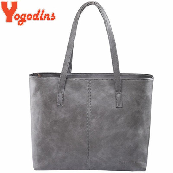 High Fashion women leather handbag brief shoulder bags gray /black large capacity luxury handbags tote bags design
