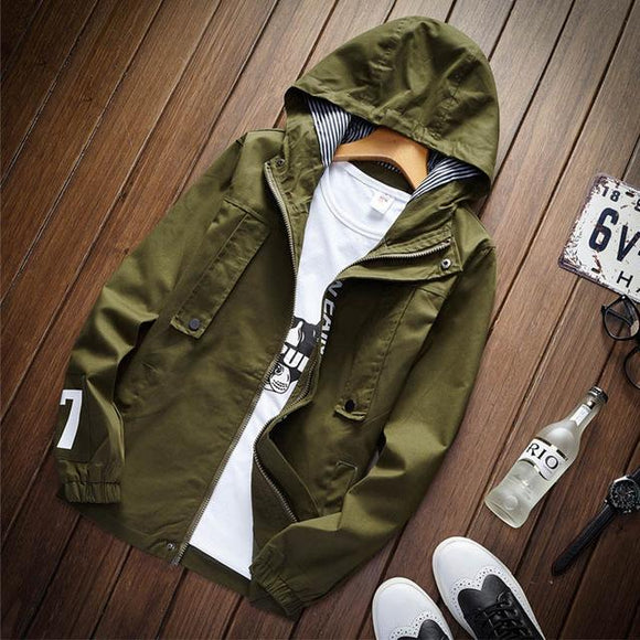 [collections] - CHEAPAPPLE Men Hood Slim Fit Casual Military Jackets