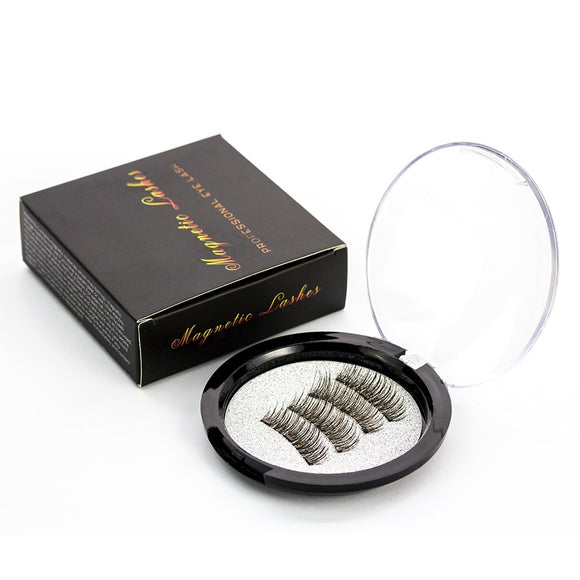 Magnetic eyelashes with 3 magnets handmade 3D/6D magnetic magnet lashes with gift box-24P-3 Free Shiiping today.