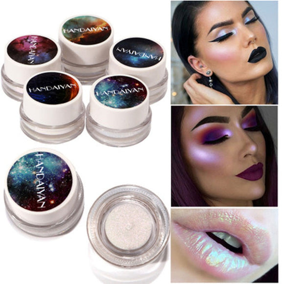 New 5 Colors Makeup Glitter 1Box Multifunction Highlight Makeup Powder High Light Eye shadow Cosmetic Glitter Powder Pretty Free Shipping today