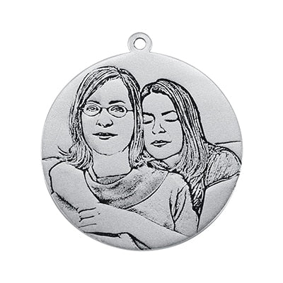 Custom Photo Necklace Picture Print in Pendant
