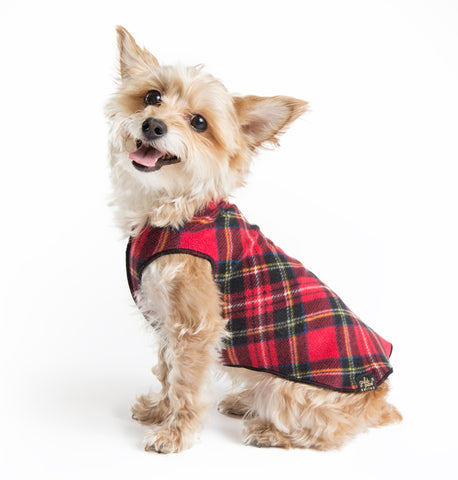 Red Classic Plaid Stretch Fleece