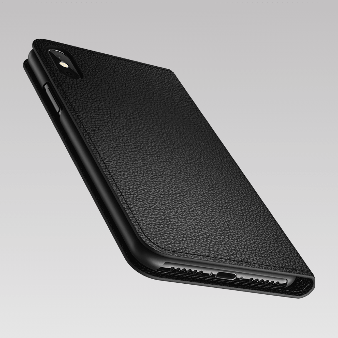 detailed look a928c 91dc9 Leather iPhone Xs Max case - Folio