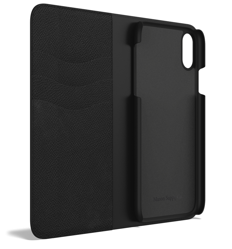 Leather iPhone Xr Case - Folio Wallet