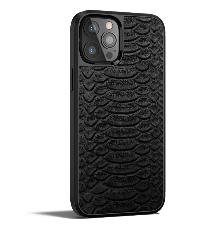 Python Leather iPhone 12 Pro Case