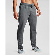 Under Armour Men's Rival Fleece Pants , Pitch Gray Light Heather (012)/Onyx White , X-Large