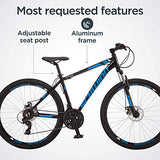 Schwinn GTX 2.0 Comfort Adult Hybrid Bike, Dual Sport Bicycle, 18-Inch Aluminum Frame, Black/Blue