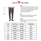 BALEAF Men's Tapered Athletic Running Pants Sports Joggers Lounge Workout Sweatpants with Pockets Black Size M
