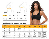 MIRITY Women Racerback Sports Bras - High Impact Workout Gym Activewear Bra Color Black Grey Size S
