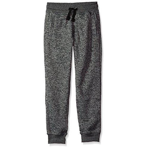 Southpole Boys' Big Jogger Fleece Pants Colors, Marled Grey(New/Logo Patch), Large-14/16
