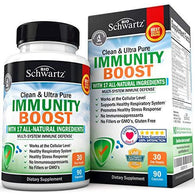 Immunity Boost Supplement with Elderberry, Vitamin C, Echinacea & Zinc - Once Daily Multi-System Immune Defense - Dr. Approved Formula - Supports a Healthy Respiratory System - 90 Capsules