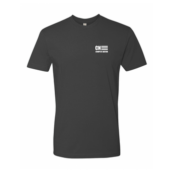 COMPETE Nation Style Men's Black Short Sleeve Shirt Front