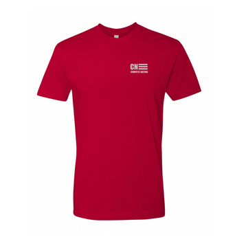 COMPETE Nation Style Men's Red Short Sleeve Shirt Front