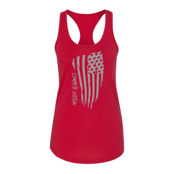COMPETE Nation Patriot Style Women's Red Racerback Tank Front