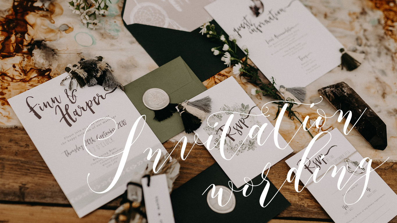 Wedding Invitation Wording...How To?!