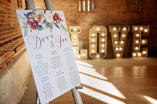 Dawn & Ian Table Plan