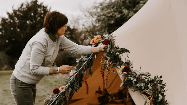 Emma Spowage flowering a tipi
