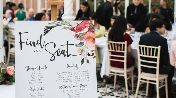 Modern wedding table plan