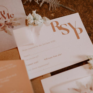 The chic and modern 'Ethereal Love' RSVP card.