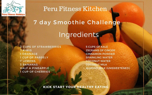7 day smoothie challenge ingredients