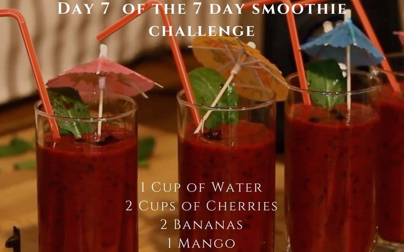 Day 7 of the Smoothie Challenge - Cherry Beast