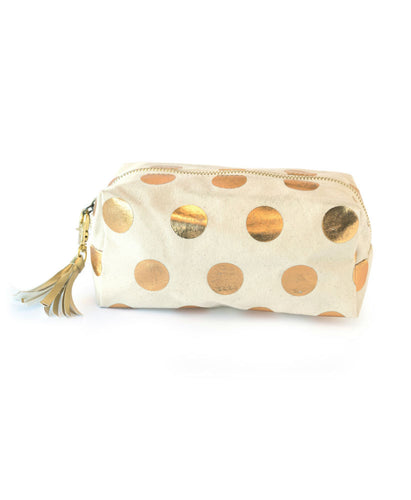 Gold Dots Cosmetic Bag