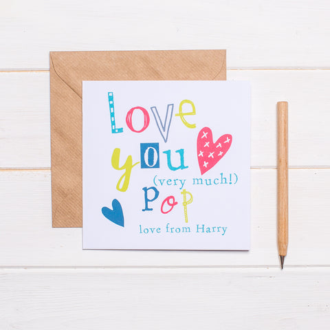 Personalised Father's Day Card for Pop