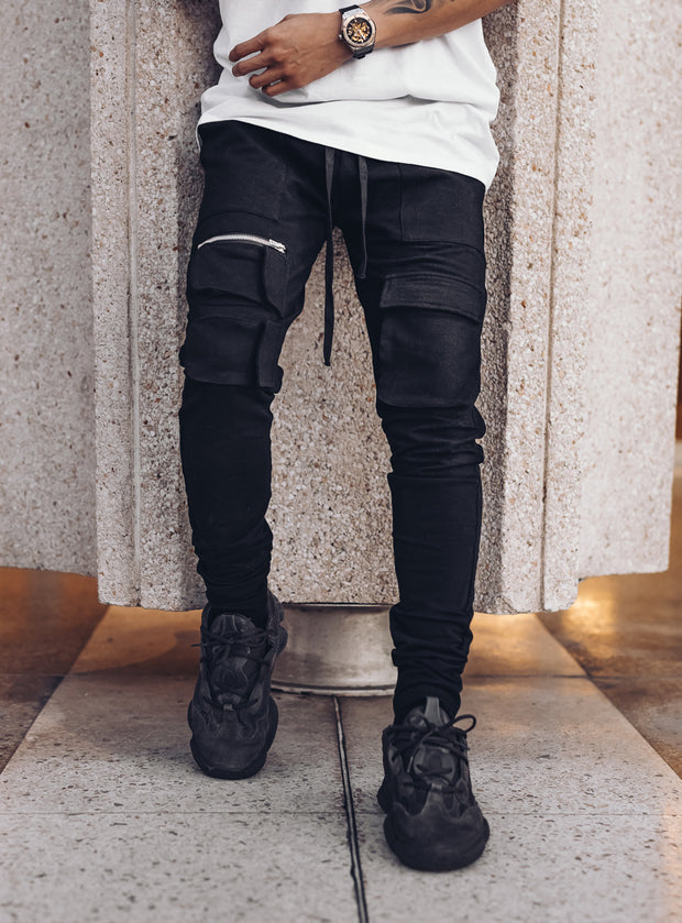 Utility Cargo Pants V2 in Black