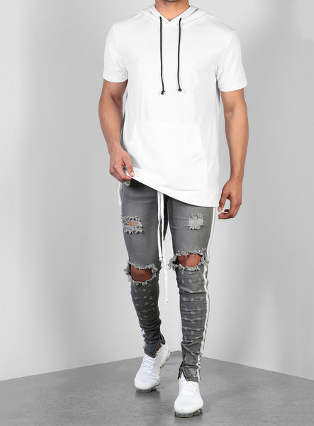 Double Striped Track Jeans V2 in Grey