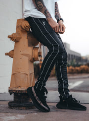 Reflective Track Pants V1 in Black